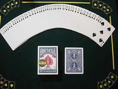 One Way Force Deck - Blue Bicycle - 5 Of Spades - 52 Cards All The Same - New