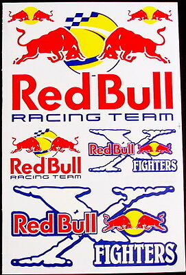 1 Sheet scooter motocross Stickers atv mx Decal Energy Rockstar BMX Bike Bull BY