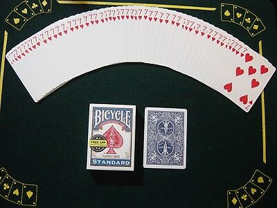 One Way Force Deck - Blue Bicycle - 7 Of Hearts - 52 Cards All The Same - New