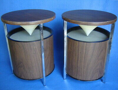Vintage Pair 2~ Mid-Century Zenith Circle Of Sound Stereo Speakers~Nice Original