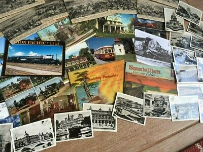 Vintage Large Wholesale Postcard and Travel Photo Lot - Foldouts and more