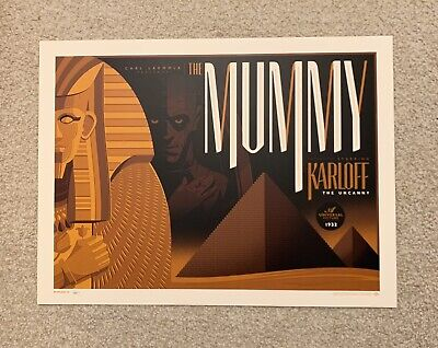 The Mummy Tom Whalen Universal Monster Art Print Mondo AP Artist Proof Movie