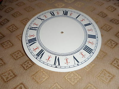 "Round Vienna Style Paper Clock Dial- 5"" M/T-GLOSS CREAM-Face/Clock Parts/Spares"
