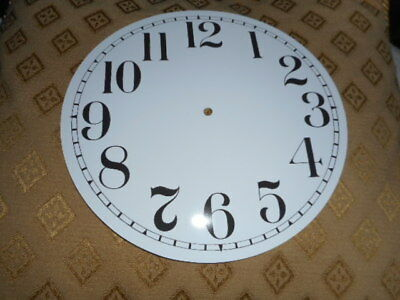 "Round Paper Clock Dial - 8"" M/T - Arabic - GLOSS WHITE-Face/Clock Parts/Spares"