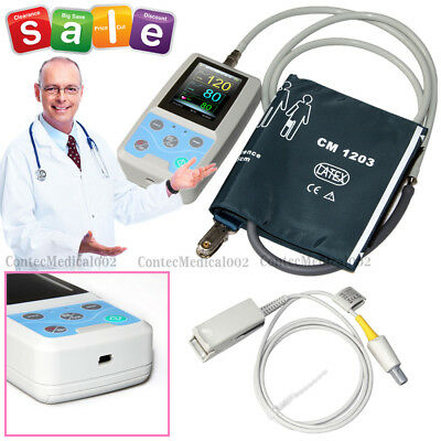 FDA CE PM50 Portable Patient Monitor Vital Signs NIBP SPO2 Pulse Rate Meter,USA
