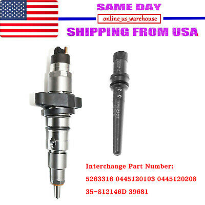 Diesel Injector Bosch With Connector Tube Set Fits 03-04 Dodge Ram Cummins 5.9L