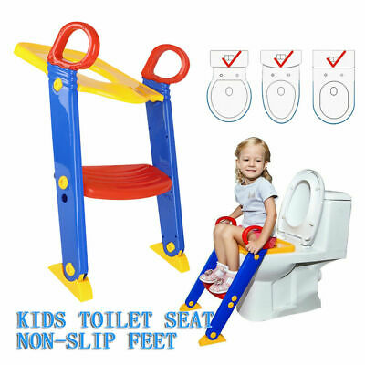 Safety Non Slip Fashion Kids Toilet Seat Ladder Baby Potty Training Step Trainer