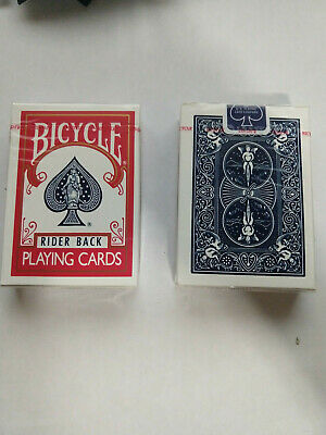 BICYCLE RIDER BACK BLUE SEAL Decks Poker 808 Playing Cards Red and Blue