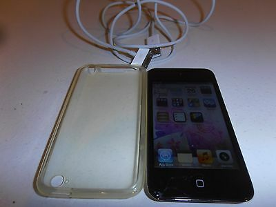 Apple Ipod Touch Black 8GB 4th Generation Facetime Charger Cover Tested Working