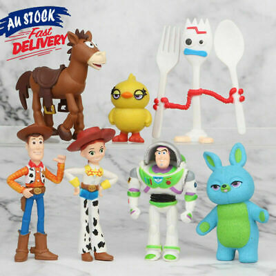 7 PCS Toy Story Cake Topper Buzz Lightyear Action Figure Bulleye Kids Toys Woody