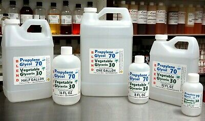 70/30 Blend Pg / Vg Propylene Glycol & Vegetable Glycerin Usp Kosher Food Grade