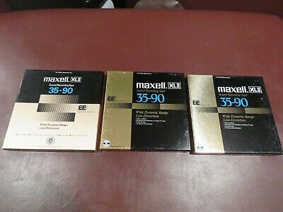 MAXELL XLII 35-90  EE   LOT of 3 Reel to Reel Tapes  Great condition