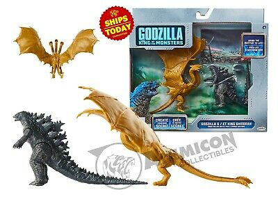 GODZILLA KING OF THE MONSTERS Battle Set KING GHIDORAH Movie 2019 ZERO 2 PACK