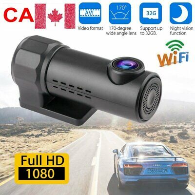 1080P HD WiFi Hidden Car Camera DVR Dash Cam Recorder 170° G-sensor Night Vision