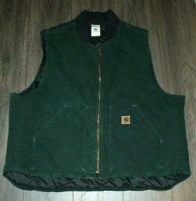 Vintage Carhartt Union Label Vest SIZE 3XL Made in USA Duck Cotton