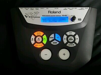 Roland TD-6V Percussion Sound Module With Power Adapter