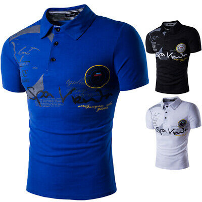 UK Mens Short Sleeve Pique POLO Shirt Summer Casual T-Shirt Tee Top Work Wear
