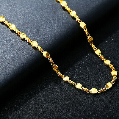 Girl's 18K Gold Filled Wedding Necklace Jewelry Chain Pendants Choker Gifts