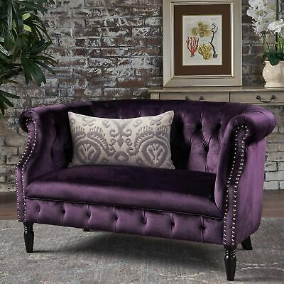 Fabulous Antique Grey Velvet Scroll Arm Tufted Small Space Customarchery Wood Chair Design Ideas Customarcherynet