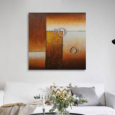 100% Hand Painted Canvas Oil Painting Wall Art Home Decor - Abstract Framed