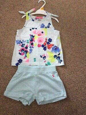 Joules Girls Top And Shorts Set 4-5 Yrs
