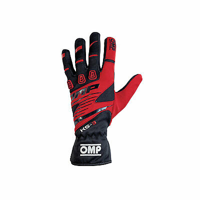 OMP KS-3 MY18 Gloves black/red - Genuine - XL