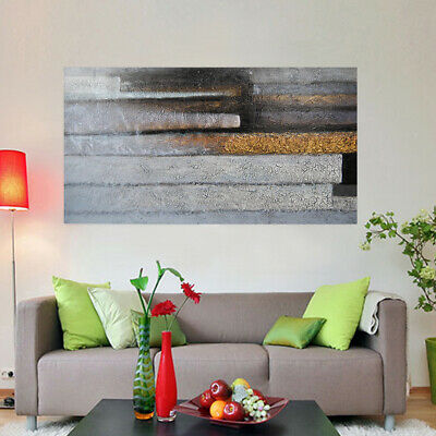 Hand Painted Abstract Art Oil Painting Stretched Canvas Home Wall Decor Framed