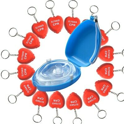 CPR Mask AED First Aid Traning One Way Valve Filter Pouch CPR Mask &16Pcs CPR