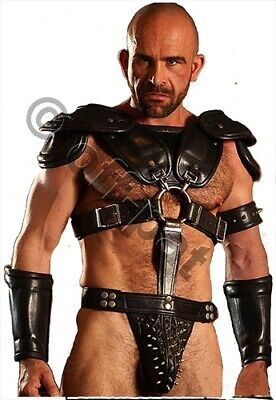 HAND MADE Mans Mens REAL LEATHER ROMAN GLADIATOR ARMOUR ARMOR  Most Sizes