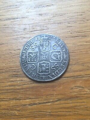 GEORGE 1st   1723, SSC.  SILVER SHILLING.    RARE.  FRENCH ARMS AT THE DATE.