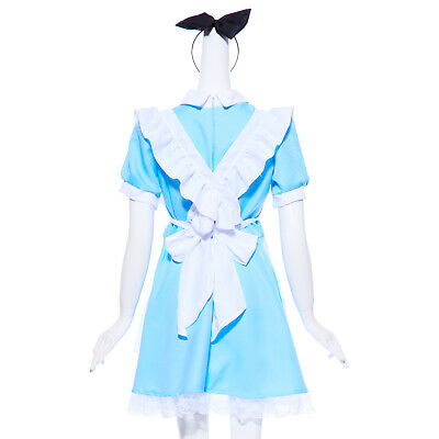 02237bf3d42f Alice in Wonderland Anime Cosplay Costume Lolita Dress Fancy Dress Maid  Outfit