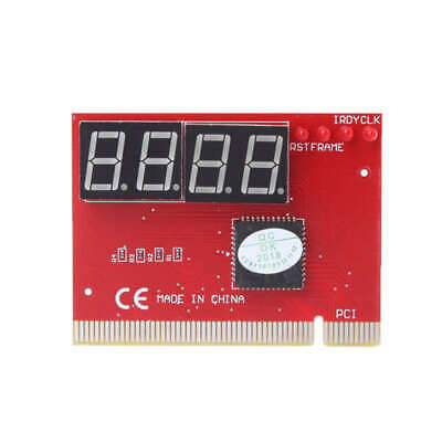 Computer Analysis Pci Post Card Motherboard Led 4-Digit Diagnostic Test Pc E4N7