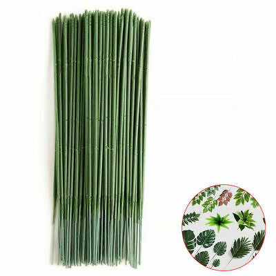 10-100Pcs Green Floral Tape Iron Wire Artificial Flower Stub Stems Craft Decor
