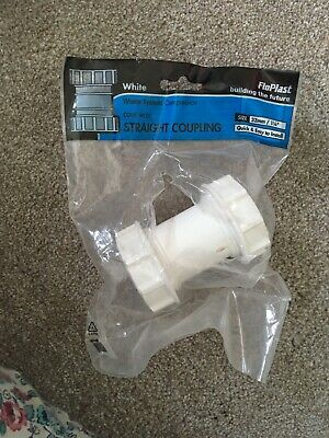 """FloPlast Waste System Compressio. Straight Coupling WC07 White 32mm / 1 1/4"""""""