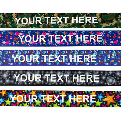 Printed or Pattern Lanyard - Personalised custom Lanyard neck strap with Text