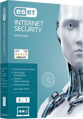 Eset Internet Security 2019, Full Version, 3 Devices 1 Year, Download/ESD