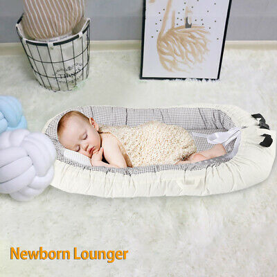 Baby Nest Newborn Pod Sleeping Baby Bed Double-Sided High-Quality Gery Grid