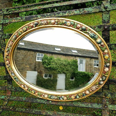 Art Nouveau Style Oval Gilt Framed Wall Mirror Early C20th (Antique)