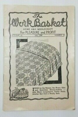 July 1948 The Workbasket Magazine Home & Needlecraft Projects Vintage Vol 13