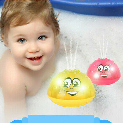 Children Electric Induction Sprinkler Water Spray Toy Light Baby Play Bath Toys