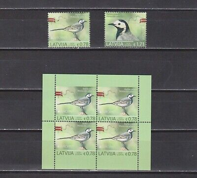 2019 Europa-CEPT Latvia Birds complete set from sheets and booklet MNH