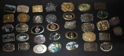 Vintage Belt Buckle Collection. LOT of 37. All 1980 exce[t 2 1990s