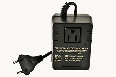 VCT VM 200 Deluxe Step Down Voltage Converter for Travel to 220V/240V Country