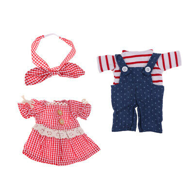 2 Set Lovely Doll Clothes Suit for Mellchan Baby Doll Reborn Doll Outfits