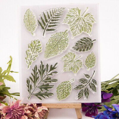 leaves transparent clear silicone stamp for diy scrapbooking photo decorationFBB