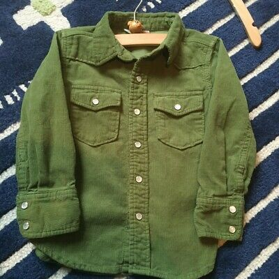 Bit'z Kids NYC TOddler Boy Green Corduroy L/S Shirt 3-4T org $45