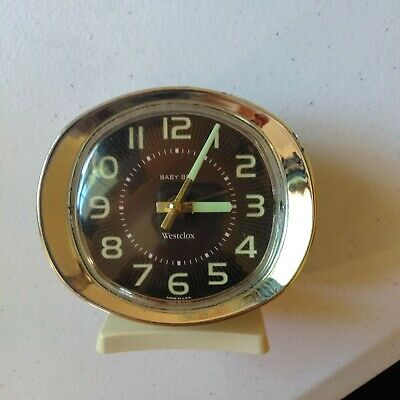 VINTAGE WESTCLOX BABY BEN ALARM CLOCK. Works Well, Glows In The Dark