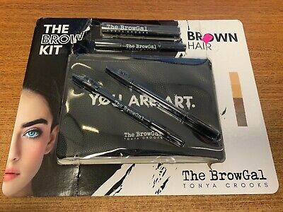 The BrowGal Tonya Crooks Brown Hair 4pc The Brow Kit Pouch Included New Opened