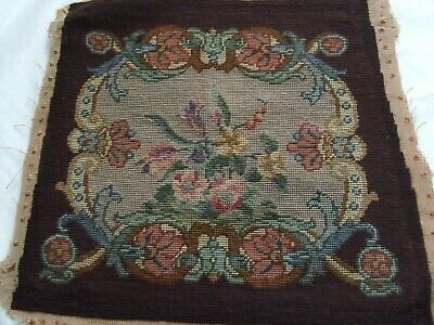 Vintage Needlepoint Chair Seat Cover In Chippendale/Jacobean Style #1