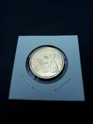 2012 Canadian coin / $1 Grey Cup Loonie AU / Lightly Circulated, Brilliant !